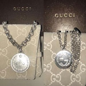 Gucci necklace &bracelet set